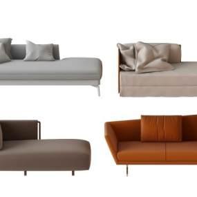 现代沙发组合 3D模型【ID:642350766】