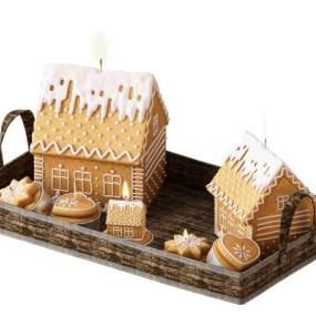现代蛋糕 3D模型【ID:242368575】