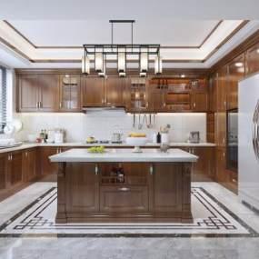 新中式廚房3D模型【ID:550547394】