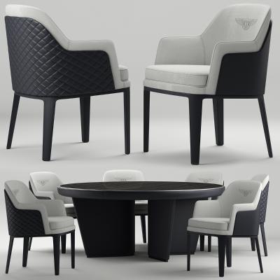 现代宾利圆形桌椅3D模型【ID:843692886】