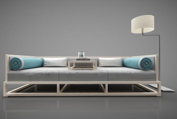 新中式风格沙发3D模型【ID:644617674】