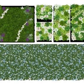 现代绿植墙组合3D模型【ID:248921825】