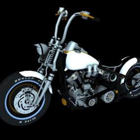 现代哈雷摩托车3D模型【ID:432495734】