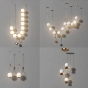 現代吊燈3D模型【ID:747916853】