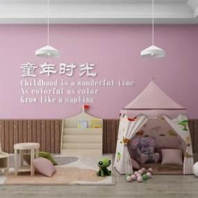 帐篷小屋-阅读休闲桌椅-阅读柜3D模型【ID:530481792】