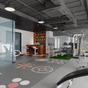 现代健身房3D模型【ID:743555861】