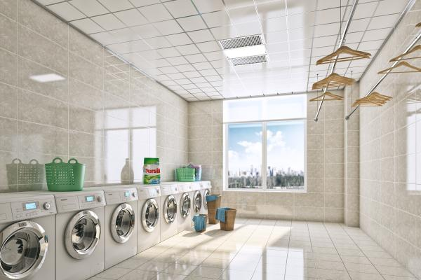 现代简约洗衣房晾衣房洗衣店