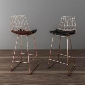 北欧吧台椅3D模型【ID:736038251】