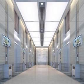 現代電梯間3D模型【ID:934791938】
