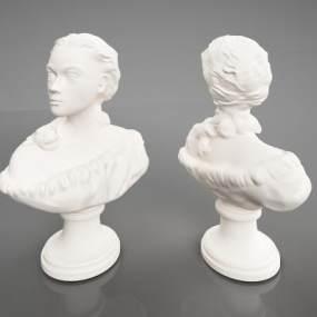 现代艺术雕塑3D模型【ID:334497137】
