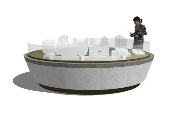 现代售楼处沙盘SU模型【ID:745282782】