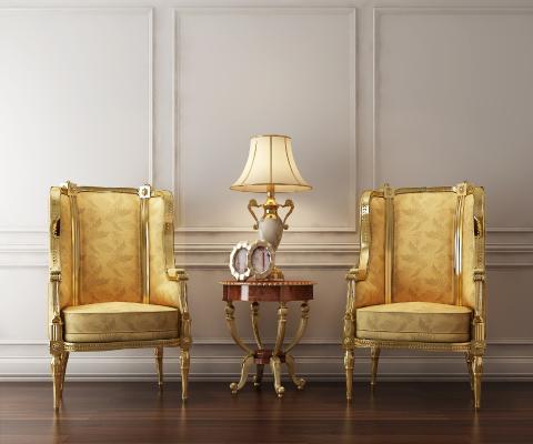 新古典沙发椅3D模型【ID:632251480】