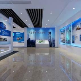 现代企业展厅3D模型【ID:943998746】