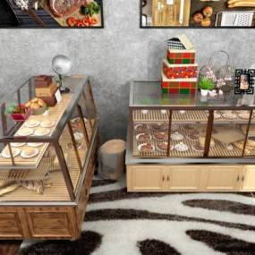北欧面包柜3D模型【ID:633101957】