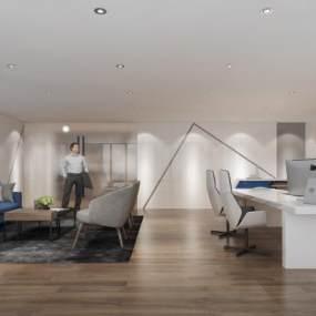 现代办公室3D模型【ID:931639091】