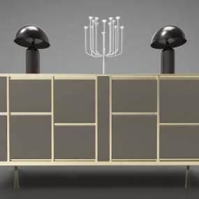 現代風格裝飾柜3D模型【ID:147559115】