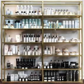 現代化妝品香水貨架展柜展架組合3D模型【ID:134340164】