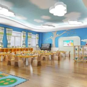 現代幼兒園教室3D模型【ID:943718626】