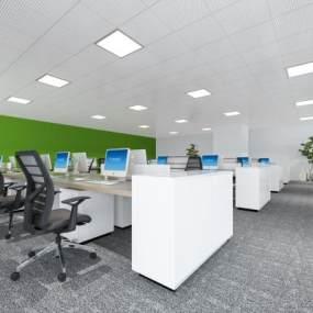 現代公共辦公室3D模型【ID:951020077】