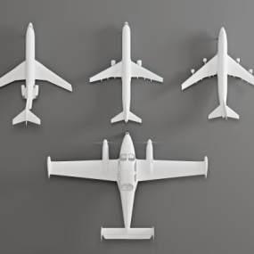 现代飞机3D模型【ID:444140948】