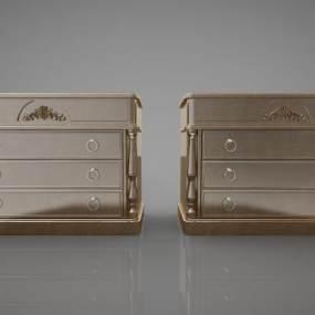 中式風格裝飾柜3D模型【ID:147445126】
