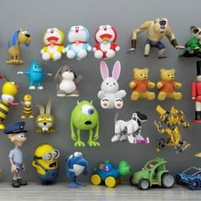 现代儿童益智玩具3D模型【ID:331621430】