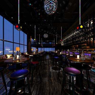 工业风酒吧3D模型【ID:845515054】