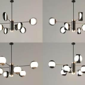 現代吊燈組合3D模型【ID:748518831】