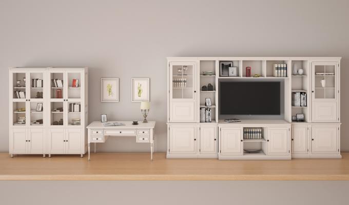 书桌3D模型【ID:136162501】