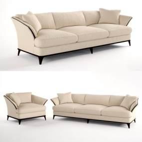 现代布艺单人沙发3D模型【ID:635652697】