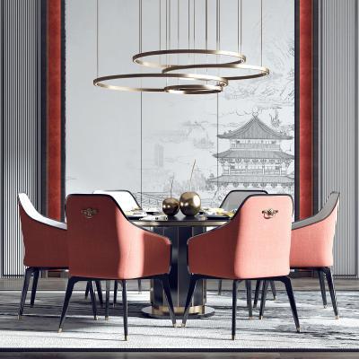 新中式餐廳3D模型【ID:547864111】