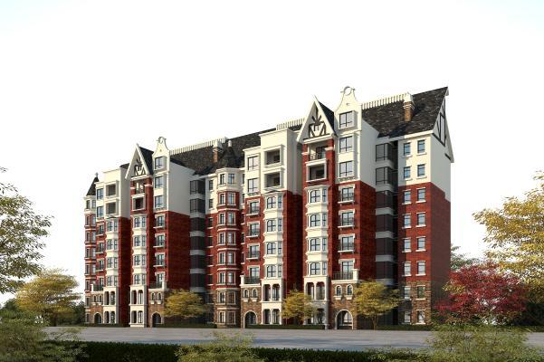 欧式住宅3D模型【ID:146173704】