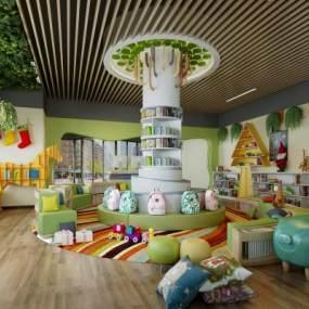 现代幼儿园3D模型【ID:932116628】