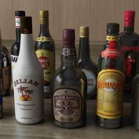 酒瓶白酒酒水3D模型【ID:232171823】