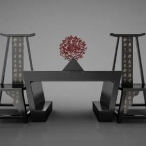 新中式风格沙发3D模型【ID:644658799】