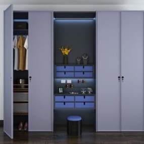 现代衣柜3D模型【ID:135953453】