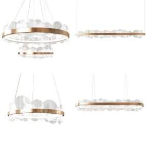 現代輕奢新意吊燈3D模型【ID:747722840】