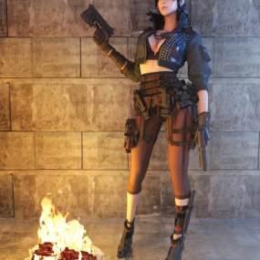 现代女士兵3D模型【ID:832670742】