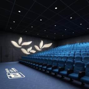 现代电影院放映厅3D模型【ID:643448885】