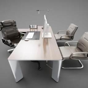 现代风格办公桌3D模型【ID:953473161】