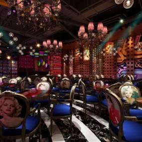 现代酒吧3D模型【ID:834716085】