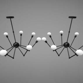 現代風格吊燈3D模型【ID:752624838】