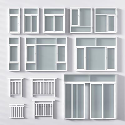 现代平开窗3D模型【ID:330661323】