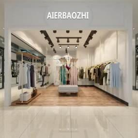 现代服装店3D模型【ID:131505044】