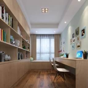 现代书房3D模型【ID:534842413】