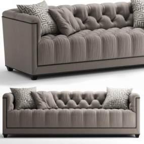 现代布艺双人沙发3D模型【ID:632657507】