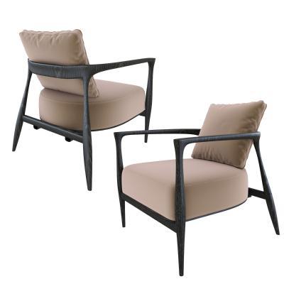 現代休閑沙發椅單椅3D模型【ID:645673403】
