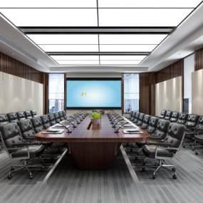 现代研发楼会议室3D模型【ID:947345196】
