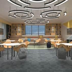 现代创客教室3D模型【ID:931052662】