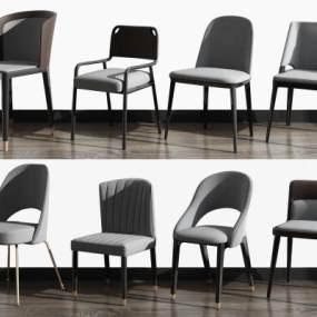 现代休闲椅组合3D模型【ID:734509080】